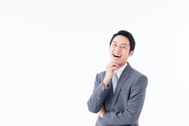 笑顔のサラリーマン