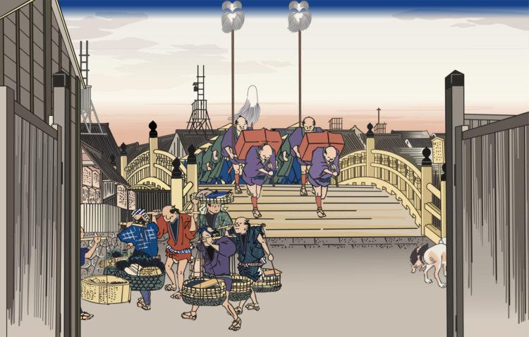 江戸時代の東京日本橋