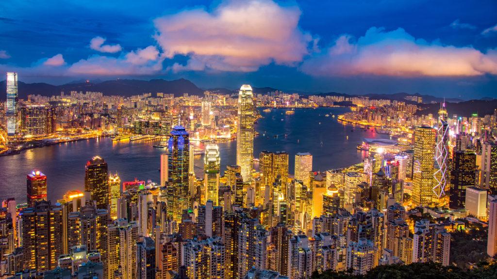 世界トップの金融センターがある香港の街並み