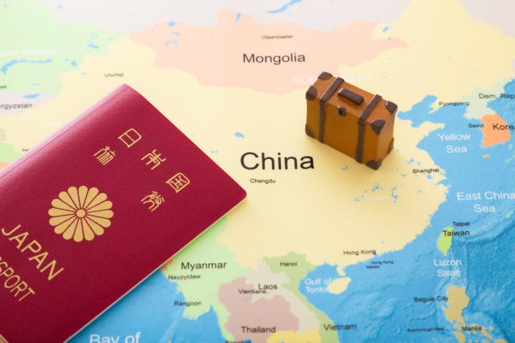 日本のパスポートと香港の位置