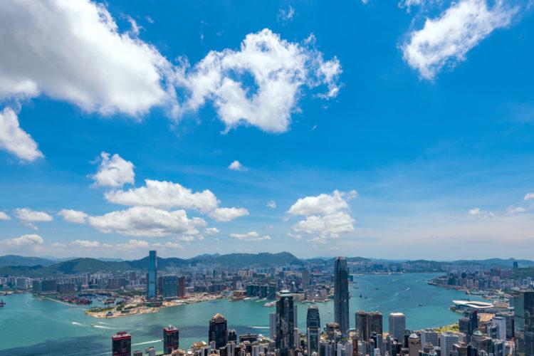 香港の青空