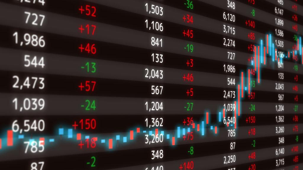 株価を示すチャート