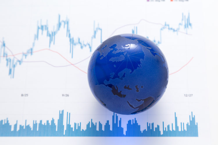 株チャートと世界