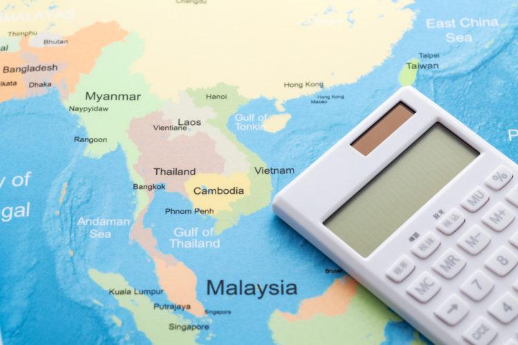 消費税の安い国(アジア)イメージ