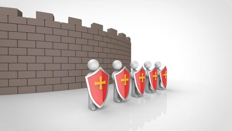 城壁を守る兵士