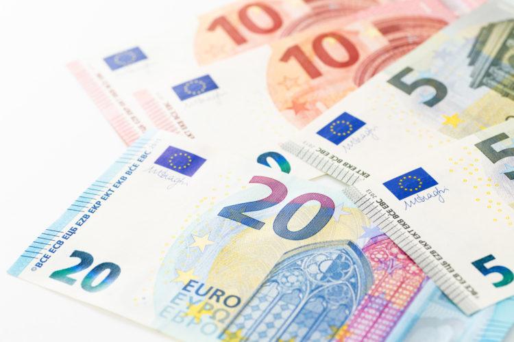 ヨーロッパ各国で使用されるユーロ紙幣