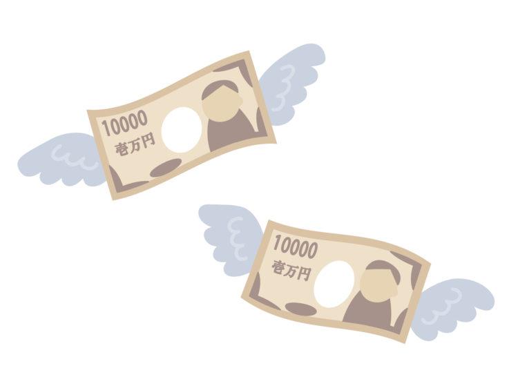 羽の生えたお金