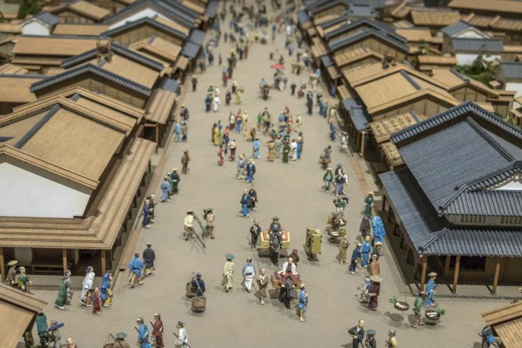 米取引が活発におこなわれた江戸時代の街